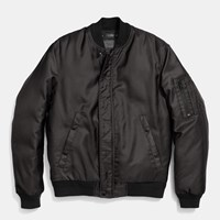 Coach Ma 1 Jacket In Nylon Black