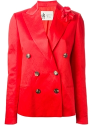 Lanvin Flower Detail Blazer Red