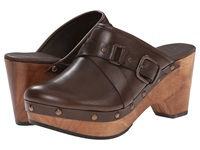 Cordani Zulander Brown Leather Women's Clog Shoes