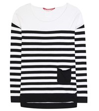 81 Hours Antony Striped Cotton And Cashmere Sweater White