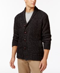 Weatherproof Shawl Collar Cardigan Charcoal Heather