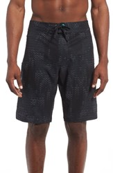 Under Armour Men's Print Board Shorts Stealth Gray Blackout Navy