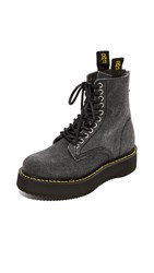 R 13 R13 Canvas Stack Boots Black