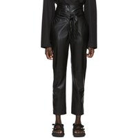 Nanushka Black Vegan Leather Ethan Trousers