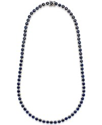 Macy's Blue Sapphire Collar Necklace 25 Ct. T.W. In Sterling Silver