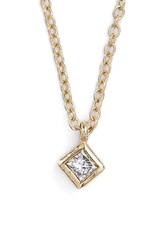 Zoe Chicco Women's Zo Chicco Princess Diamond Pendant Neckalce