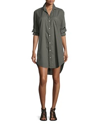 Frank And Eileen Mary Long Sleeve Shirtdress