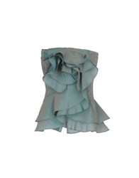 Rose' A Pois Tube Tops Pastel Blue