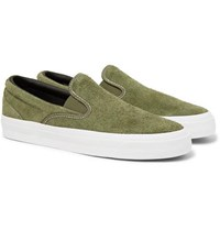 Converse One Star Cc Suede Slip On Sneakers Green