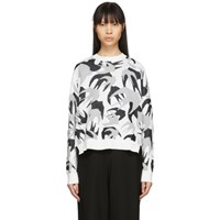 Mcq By Alexander Mcqueen White Camo Swallows Sweater