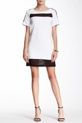 Dex Short Sleeve Dress With Mesh Multi