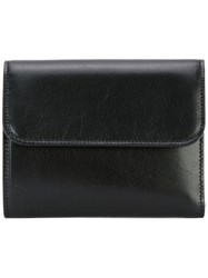 Maison Martin Margiela Classic Foldover Wallet Women Calf Leather One Size Black