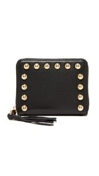 Rebecca Minkoff Mini Ava Zip Wallet With Studs Black