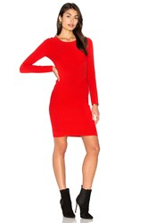 Milly Angled Ottoman Sheath Dress Red