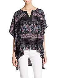 West Kei Printed Hi Lo Tunic Purple Multi