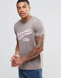 Abercrombie And Fitch Athletic Dept T Shirt Olive In Muscle Slim Fit Olive Green