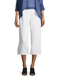 Eileen Fisher Petite Cropped Cotton Pants White