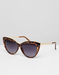 Jeepers Peepers Cat Eye Tort Frame Sunglasses Brown