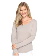 Lilla P Long Sleeve Scoop Neck Twig Women's Clothing Brown