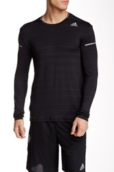 Adidas Sequential Heathered Long Sleeve Tee Black