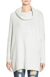Junior Women's Dreamers By Debut Cowl Neck Sweater Light Grey