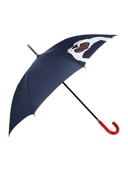 Lulu Guinness Heart Hands Kensington Umbrella Navy