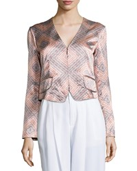 Nanette Lepore Sunset Print Structured Jacket Creamsicle