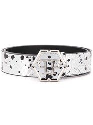 Philipp Plein Luxury Belt Silver