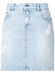 Each X Other Denim Mini Skirt Blue