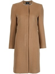 Creatures Of The Wind Collarless Buttoned Coat Nude And Neutrals