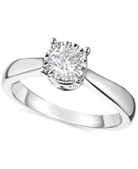 Trumiracle Diamond Solitaire Engagement Ring 1 Ct. T.W. In 14K White Gold