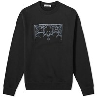 J.W.Anderson Jw Anderson Gate Embroidered Crew Sweat Black