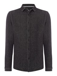 Only And Sons Men's Cotton Long Sleeve Over Shirt Dark Grey Marl