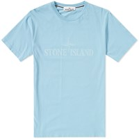 Stone Island Institution Logo Tee Blue
