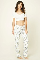 Forever 21 Pizza Donut Pj Pants