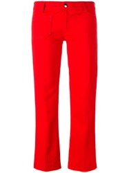 The Seafarer Straight Cropped Jeans Red