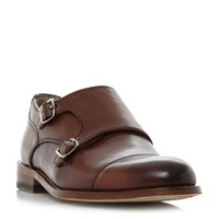 Oliver Sweeney Albourne Toecap Double Monk Shoes Brown