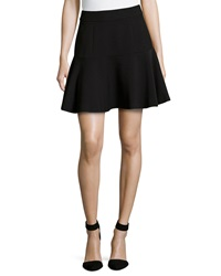 Catherine Catherine Malandrino Fred Pleated Skirt W Back Zip Black