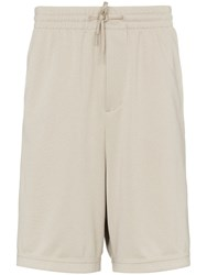 Y 3 Side Stripe Drawstring Track Shorts Neutrals