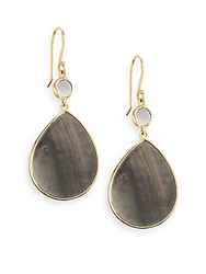 Ippolita Rock Candy Black Shell And 18K Yellow Gold Teardrop Earrings