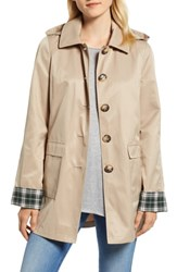 Halogen Hooded Mac Jacket Khaki