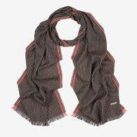 Bally 'S Wool Jacquard Scarf In Multi Coconut Brown