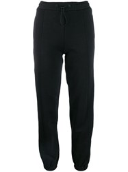 Msgm Logo Tape Track Pants Black