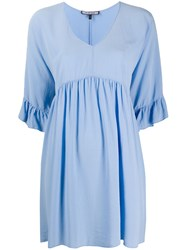 Fisico Ruffle Cuff Silk Dress 60