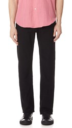 Naked And Famous Rinsed Oxford Chino Pants Black
