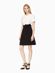 Kate Spade Colorblock Bow Dress French Cream Nightlife Blue Black