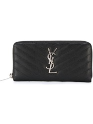 Saint Laurent 'Monogram' Wallet Black