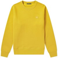 Acne Studios Fairview Face Crew Sweat Yellow