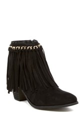 Liliana Cyrus Fringe Boot Black