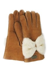 Australia Luxe Collective Bowie Genuine Shearling Gloves Beige